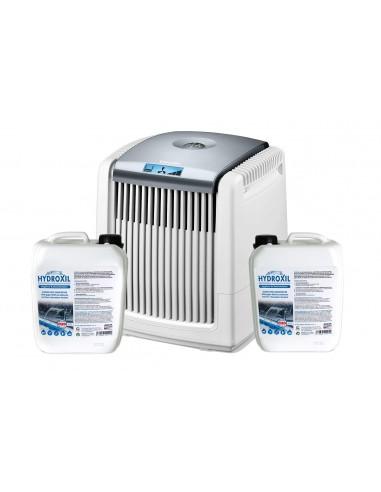 Luftwäscher Set LW 230 W + 2x5 Liter Hydroxil alkoholfreies Desinfektionsmittel