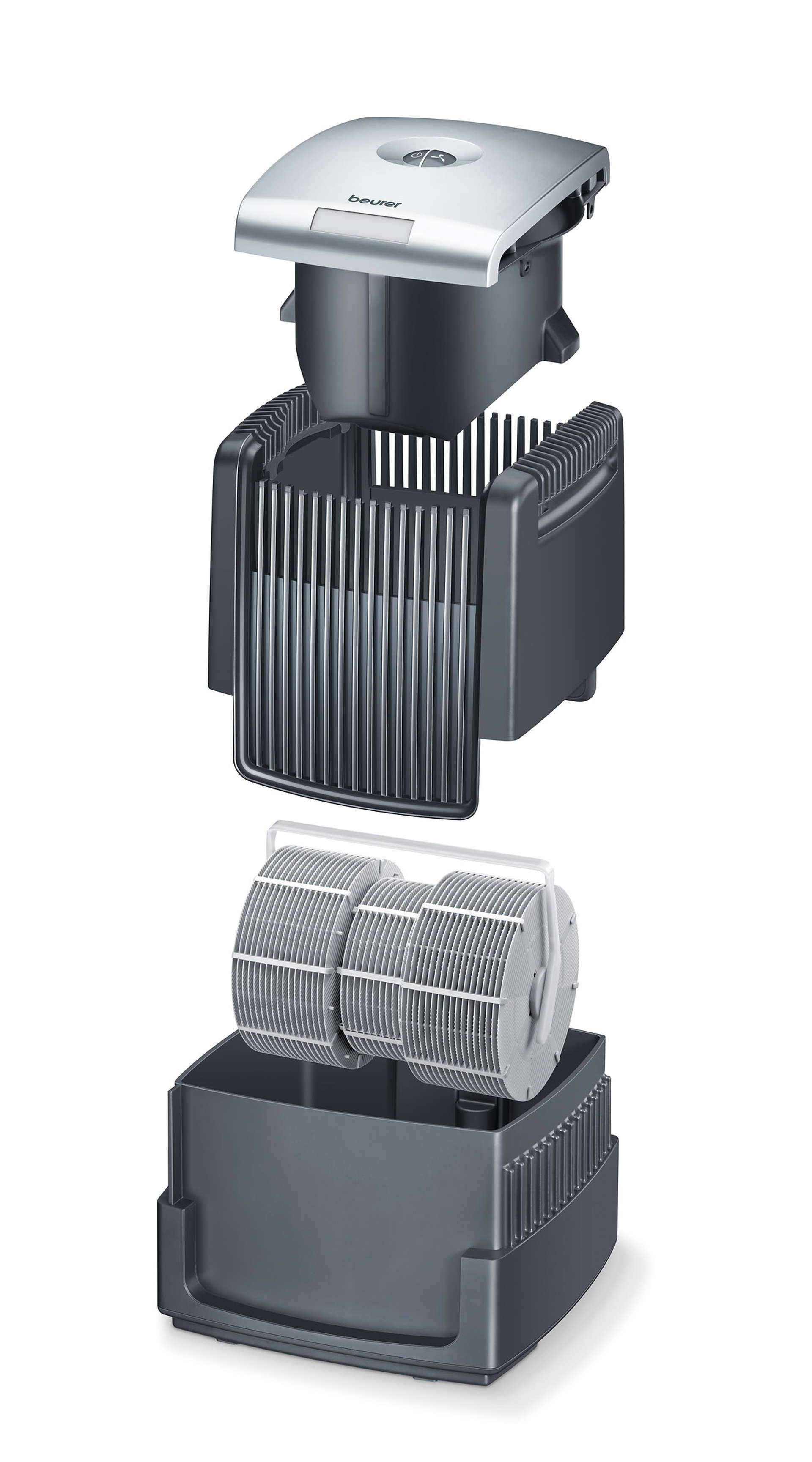 Luftwäscher LW220 Schwarz Innenansicht